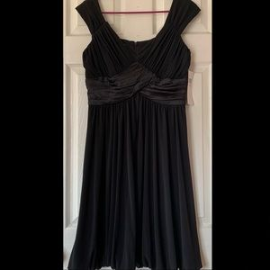 NWT black Suzi Chin gathered stretchy dress